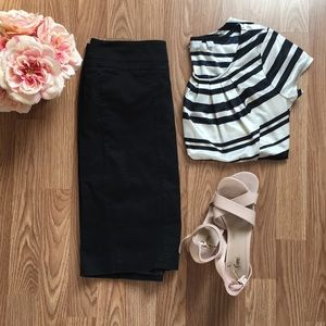 Loft || black pencil skirt